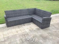 9 Sièges Extérieurs Wicker Rattan Garden Furniture Set Chair Table Stool Patio Grey