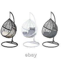 Birchtree Egg Swing Suspension Chaise Hammock Wave Avec Cushion Rattan Wicker Eswr01