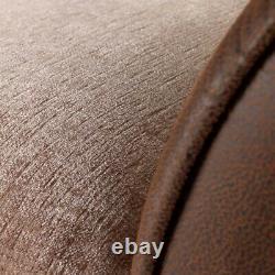 Canapé De Tissu 3 2 Seater Noir Gris Brun Coussin Beige Chaise Pivotante Chaise Cosy