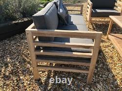 Canapé Salon De Jardin En Teck Avec Table Basse