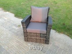 Chaise À Bras Rattan High Back Patio Meubles De Jardin Extérieur Avec Coussin