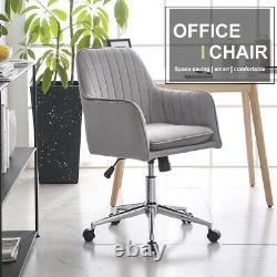 Chaise De Bureau À Domicile Velvet Chaise De Bureau D'ordinateur Swivel Ergonomic Réglable Retour Royaume-uni