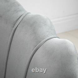 Chaise De Sofa De Fauteuils D'accent D'huître Avec Le Salon De Salon De Footstool Et D'ensemble De Coussin