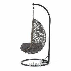 Chaise En Patio De Jardin D'oeufs À Balançoire À Rotin Simple Luton Avec Coussins
