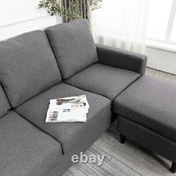 Chaise Longue En Fauteuil Coussiné Fabric Corner Sofa L Shape