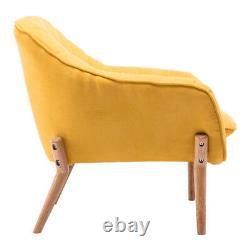 Chaise Moderne Coussin En Tissu Occasionnels Accent Tub Fauteuil Salon Salon Royaume-uni