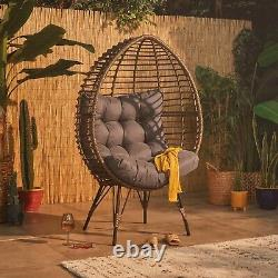 Chaise Vonhaus Rattan Egg Hand Wicker Cocoon Teardrop Outdoor Ou Indoor
