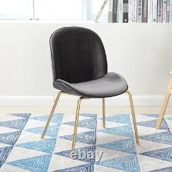 Chaises À Manger Modern Gold Legs Beetles Backrest Avec Sièges-salon Coussin Velours
