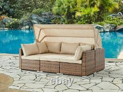 Cliquetis Sunbed Garden Furniture Set Outdoor Lounge Sofa Chair Bed Table Modular
