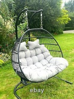 Cocoon Egg Chaise Suspendu Swing Pliant Simple Double Jardin Meubles D'extérieur