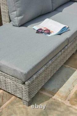 Corner Sofa Sunlounger Rattan Witan Luxury Garden Bahama Garantie De 5 Ans