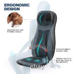 Coussin De Chaise De Siège De Massage De Cou Arrière Avec La Pression 3d De Doigt De Chaleur Et La Vibration Hd
