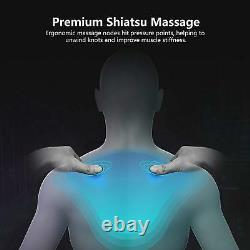 Coussin De Chaise De Siège De Massage De Cou Arrière Avec La Pression Et La Vibration 3d De Doigt De Chaleur
