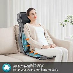 Coussin De Chaise De Siège De Massage De Hanches De Taille D'épaule De Cou Arrière Avec La Chaleur Et La Vibration 3d