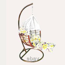 Effet De Rotin Pendaison Chaise D'oeuf Swing Patio Garden Room Coussin Rain Cover Foot