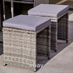 Ensemble À Manger Ablo 8 Seater Rattan Cube