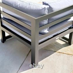 Ensemble De Canapés En Aluminium Gris Harrier 8 Sièges Premium Outdoor / Garden Furniture