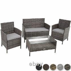 Ensemble De Meubles Rattan Garden Chaises Canapé Table Extérieure Patio Balkon Terazze Nouveau