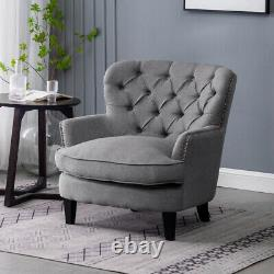 Fauteuil Chesterfield Deep Button Back Fireside Sofa Cushioned Tub Chair Bedroom