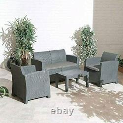 Florence Garden Meubles 4 Pièces Extérieur Rattan Patio Canapé Set Chaises Et Table