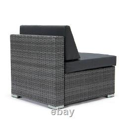 Gris Rattan Modular Corner Canapé Sette Seating Set Jardin Patio Meubles