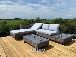 Gsd Corner Canapé Sunlounger Rattan Wicker Luxury Garden Set Garantie De 5 Ans