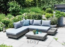 Gsd St Lucia Corner Canapé Sunlounger Rattan Luxury Garden Set Garantie De 5 Ans