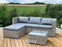Gsd Victoria Rattan Garden Meubles Corner Canapé Lounge Chase Set In/outdoor