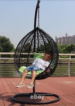 Kids Mini Chaise D'oeufs Chaise D'oeufs Suspendus Gris Pour Enfants Chaise D'osier En Osier Oeuf De Jardin