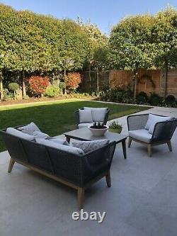 La Redoute Nordic Grey Rope Garden Canapé & 2 Fauteuils X Toujours En Ligne Prix De Vente Conseillé 2399 £