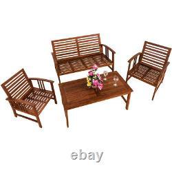 Meubles Extérieurs En Bois De Sofa De Banc De Table De Patio De Patio De Jardin
