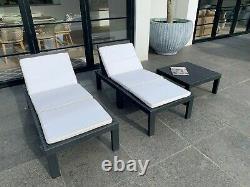 Molok Grey 4 Seater Garders Modulaires Modulaires Avec Tableau Et Cushions