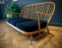 One Vintage Retro Original Blonde Ercol 203 Windsor Fauteuil & Coussins Ukdel