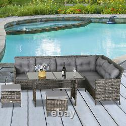 Outsunny 6 Pc Patio Wicker Sofa Set Rattan Chair Furniture With Glass & Cushioned Outsunny 6 Pc Patio Wicker Sofa Set Rattan Chair Furniture With Glass & Cushioned Outsunny 6 Pc Patio Wicker Sofa Set Rattan Chair Furniture With Glass & Cushioned Outsunny 6