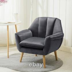 Pétoncle Oyster Back Velvet Cushioned Seats Tub Armchair Cuddle Chair Lounge Sofa
