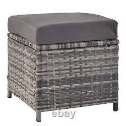 Rattan Corner Group Garden Furniture Set Outdoor Dining Table Sofa Stool Set Royaume-uni