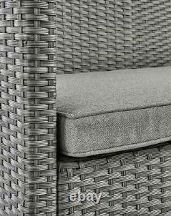 Rattan Corner Sofa Set Table Chair Patio Garden Meubles Extérieurs Salon Vivant