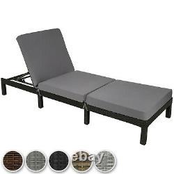 Rattan Day Bed Chair Sun Lounger Recliner Garden Furniture Patio Terrace Nouveau