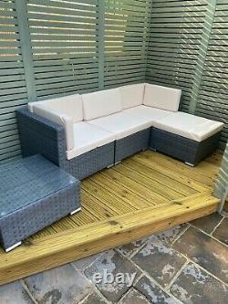 Rattan Garden Meubles Corner Canapé Salon Chase Set In/outdoor