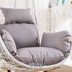 Rattan Garden Suspension Hamac Egg Chaise Egg Swing Chaise Relaxing Patio W Coussin