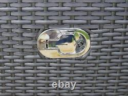 Rattan Patio Garden Conservatory Outdoor Sofa Set Chairs Meubles 6 Pcs Grey