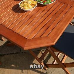 Rowlinson Plumley Garden Table À Manger Chaises En Bois 6 Seater Grey Coussins