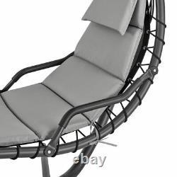 Salon Suspendu Extérieur Sun Hammock Chaise Jardin Balançoire Avec Arc Stand & Canopy