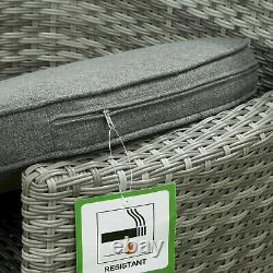Sarasota Rattan Jardin Meubles À Manger Ensemble Rectangulaire 6 Sièges Wicker Alu Frame