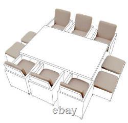 Set De Coussin En Pierre 16 Pièces Pour 10 Seater Rattan Garden Furniture Dining Cube
