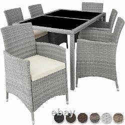 Set Rattan Garden Meubles 6 Chaises Table Salle À Manger Patio Wicker Extérieur Nouveau