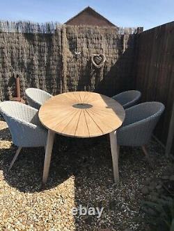 Sol John Lewis Ecalyptus Garden Table Et Quatre Chaises Aucune Cushion