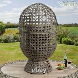 Swivel Cocoon Egg Chaise Rattan Wicker Super Comfy Idéal Pour Le Jardin Et Consevatory